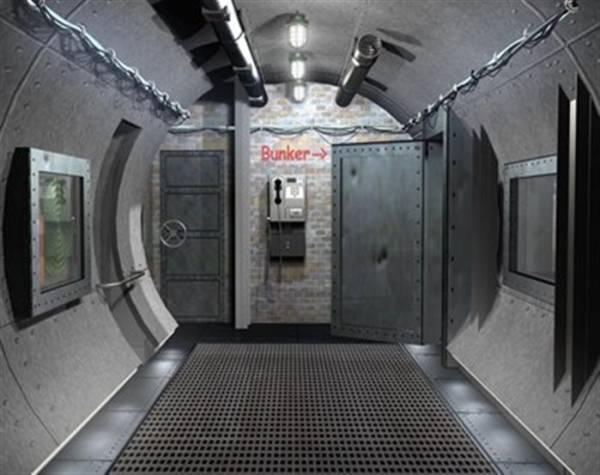 Стальные герметичные двери в бункере