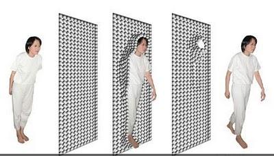 Расдвижная магнитная дверь